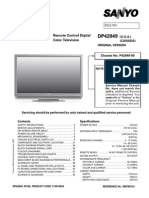Sanyo DP42849 -00 (LCD) Service Manual