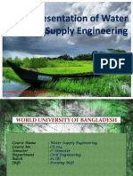 water supply engineering. ce 704. world university of bangladesh. chapter 10
