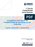 Kirby Brosa Final Logistics as a Competitiveness Factor for SMEs Spanish