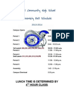 global assembly bell schedule 2013-14