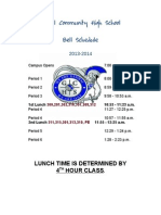 global bell schedule 2013-14
