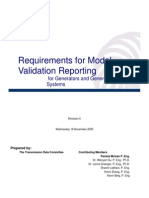 Model Validation Report Requirements R0