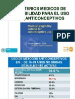 Criterios Anticoncepcion Oms
