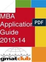 GMAT Club MBA Application Guide 2013-2014