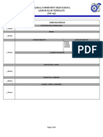 global lesson plan template