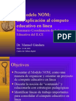 El Modelo NOM Una Aplicacion Al Computo