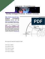 Predictive Astronomy - Directed True-Sky Horoscope