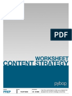 Content Strategy Worksheet