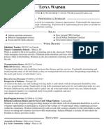 tanya warner resume 1