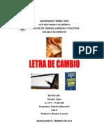 Analisis de La Letra de Cambio