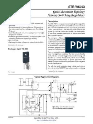 STR W6753 Datasheet | Mosfet | Reliability Engineering