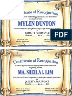 Certification Sample