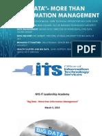 """Big Data"" - More than Information Management!"