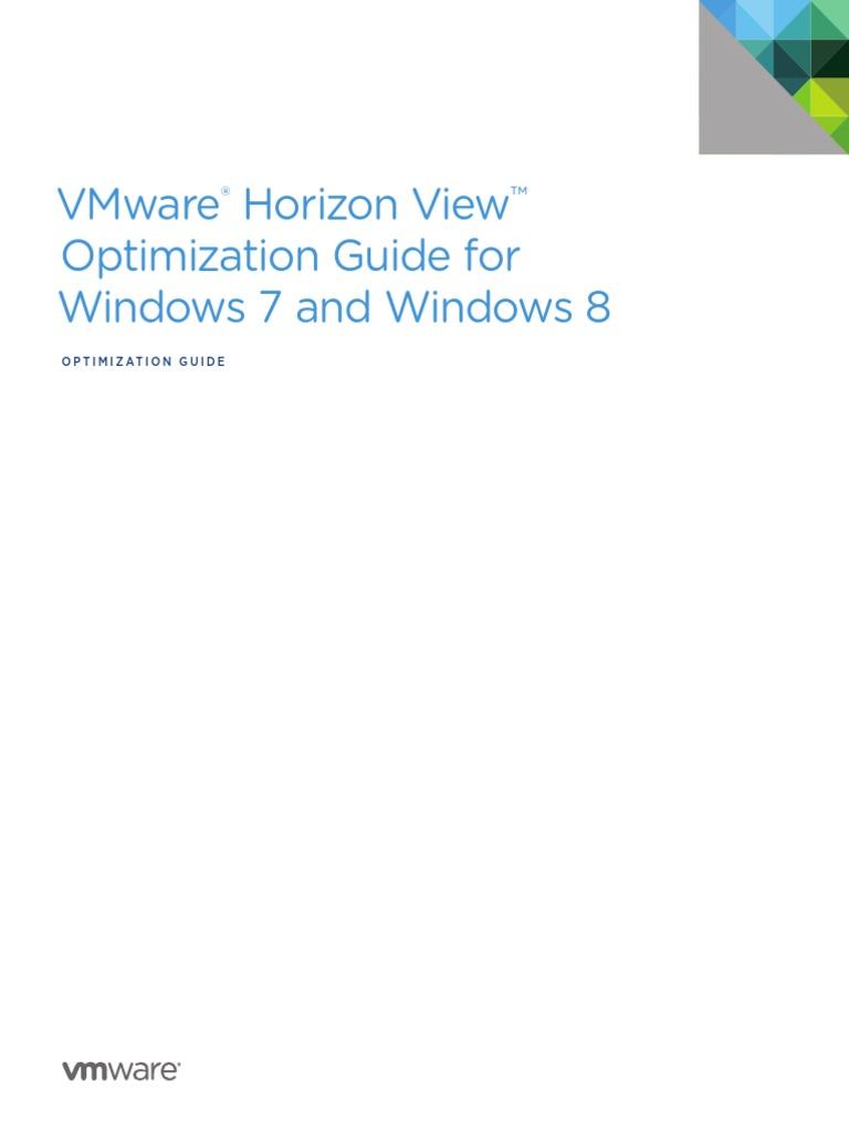 VMware ® Optimization Guide for Windows 7   Microsoft Windows