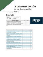ESCALAS DE APRECIACIÓN