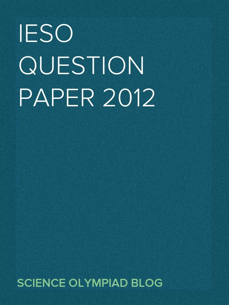 IESO Question Paper 2012 | Tide | Atmosphere Of Earth