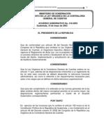 Reglamento de la Ley Orgánica de la Contraloría General de Cuentas