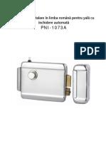 Manual de Utilizare Yala Automata Otel 00010132 h1073a