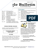 Beagle Elementary School Newsletter March 14, 2014