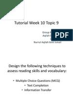 Tutorial Week 10 Topic 9