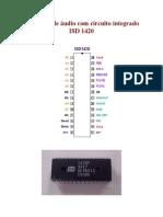 Gravador de Audio Com Circuito Integrado Isd 1420