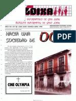LLOIXA. Número 78, abril 1990. Butlletí Informatiu de Sant Joan. Boletín informativo de Sant Joan.  Autor
