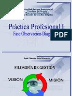 Filosofía de Gestión del Área Ciencias de la Educación y del Componente Prácticas Profesionales