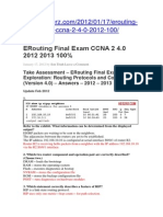 ERouting Final Exam CCNA 2 4
