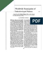 Gunnard Myrdal - The Worlwide Emancipation of Underdeveloped Nations
