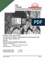 Manual Medidor Humedad Absoluta DS5