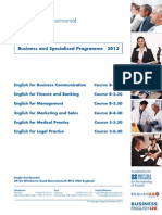 Business and Specialised Programme 2013
