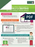 13-03-14 Reforma para proteger el derecho a la identidad de niñas y niños mexicanos