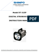 Manual Lampara Estroboscopica DT-315P