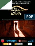 The Threshold of Desert Presentation in NY