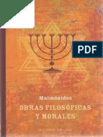 Maimonides-Obras Filosoficas y Morales