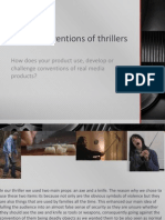 Evaluation Task One - Conventions in Our Thriller
