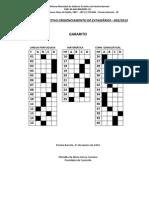 Gabarito Processo Seletivo Para Credenciamento de Estagirios n 005-2013