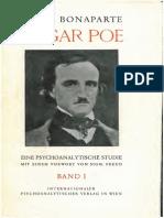 xBonaparte 1934 Edgar Poe Band1 Das Leben Edgar Poes Text