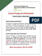 Cartaz_Proeja_março 2014