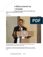 Peña Nieto dará a conocer su política de vivienda