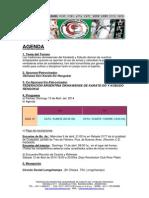Agenda 1° Torneo FAOKKR 2014
