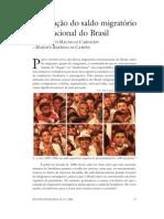 variação do saldo migratório no Brasil