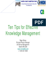 Effective Knowledge Management