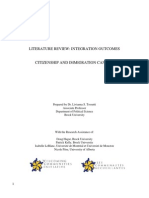 Literature Review Integration Outcomes
