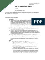 Outline for Informative Speech