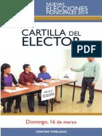 Cartilla Elector NEM2014 Centro Poblado