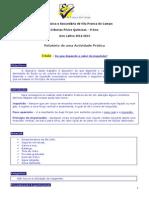 relatório de ciências física e química 9ºano