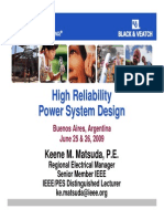 Part 1of3 Reliability Power System Design Buenos Aires