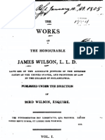 James Wilson - The Works of James Wilson, Vol 1