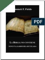 La Biblia No Contiene Ninguna Verdad Revelada